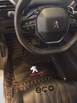Thảm lót sàn carbon đen kem Peugeot 5008