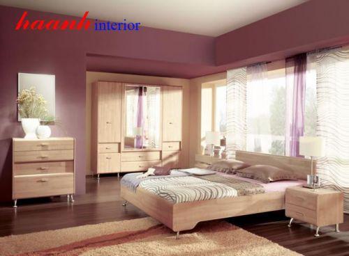 Bộ nội thất phòng ngủ gỗ công nghiệp BPN001