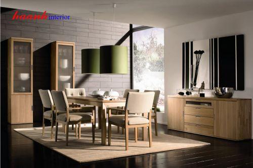 Bàn ghế ăn gỗ tự nhiên BGA002