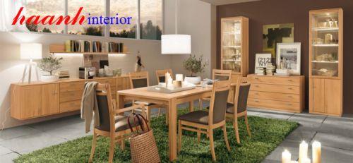 Bàn ghế ăn gỗ tự nhiên BGA004