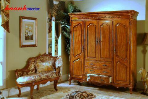 Tủ quần áo gỗ tự nhiên TAG002