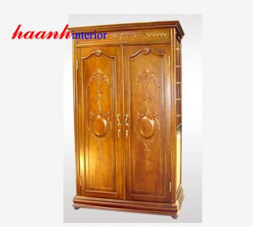 Tủ quần áo hai cánh gỗ gụ TAG003