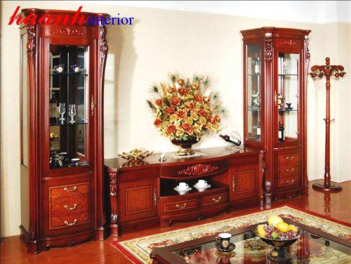 Tủ trang trí phòng khách TBK001