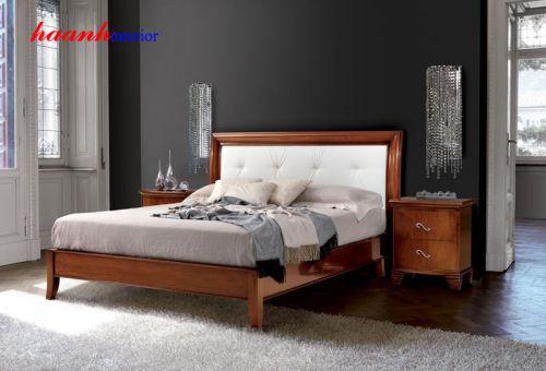 Giường ngủ gỗ tự nhiên GNC001