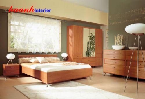 Bộ nội thất phòng ngủ gỗ công nghiệp BPN006