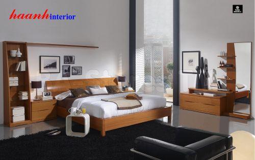 Giường ngủ gỗ veneer cao cấp  GNH003