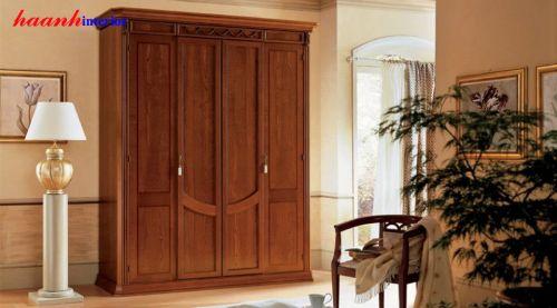 Tủ áo gỗ gụ bốn cánh TAC004