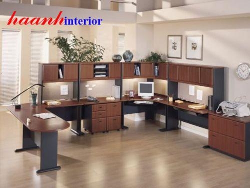 Văn phòng nhân viên gỗ công nghiệp VPN001