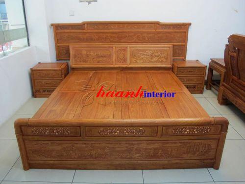 Giường gỗ hương GCI006