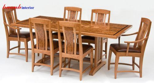 Bàn ghế ăn gỗ cao cấp BGA010