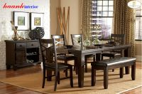 Bàn ghế ăn gỗ tự nhiên BGA007