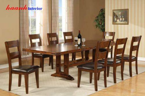 Bàn ghế ăn gỗ tự nhiên BGA009
