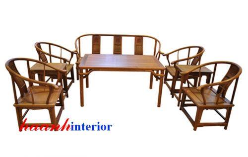 Bàn ghế phòng khách đời Minh BGG012