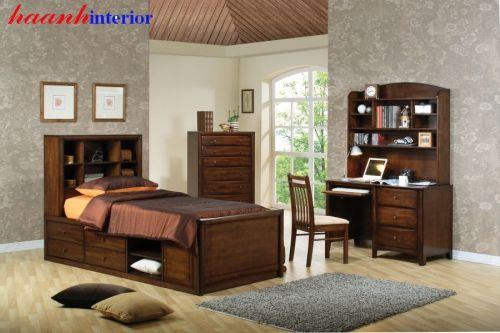 Bộ phòng ngủ bằng gỗ óc chó GNH019