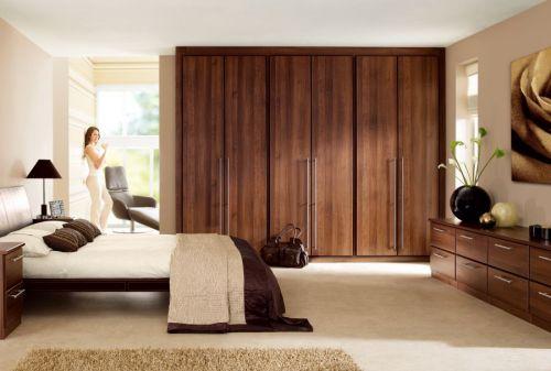 Phòng ngủ gỗ óc chó hiện đại BPN013