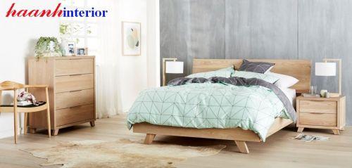 Giường ngủ gỗ sồi phong cách hiện đại GNH026