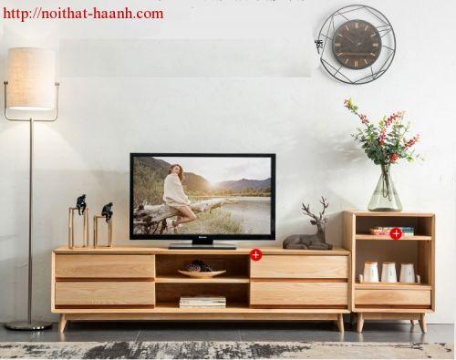 Kệ ti phòng khách gỗ sồi tự nhiên KPK026