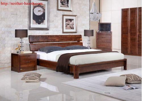 Phòng ngủ gỗ tự nhiên óc chó BPN027