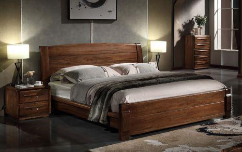 Giường ngủ gỗ tự nhiên óc chó nhập khẩu.GNH033