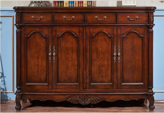Tủ giầy gỗ tự nhiên tân cổ điển cao cấp. GDT 002