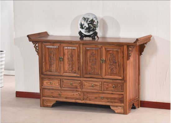 Tủ thờ gỗ tự nhiên giả cổ cao cấp, chất lượng cao. TTC 020