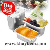 Khay inox đựng kem 0.5 - 5.5 lít