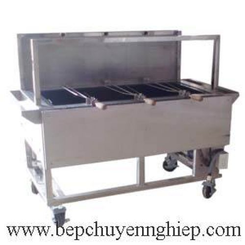 Bếp lò quay nướng bằng than củi