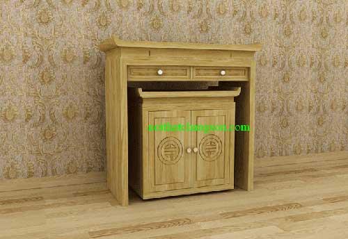 Ban thờ gỗ sồi nga 7