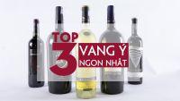 TOP 3 CHAI RƯỢU VANG Ý NGON NHẤT 2018