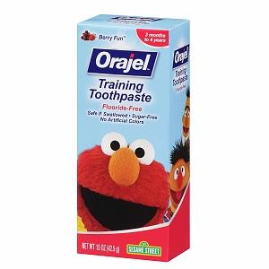 Orajel-Kem đánh răng nuốt được-mùi mix berry
