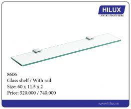 Glass Shelf - With Rail - 8606