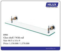 Glass Shelf - With Rail - 8906