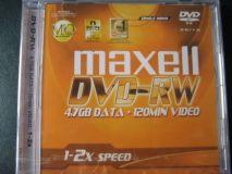 DVD-RW 1- 2x 4.7GB 120MIN maxell