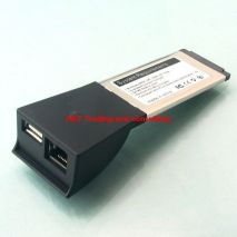 Card PCMCIA Express to 1000m LAN and USB 2.0