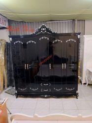Tủ áo tân cổ điển cao cấp màu đen (TA-11.1)