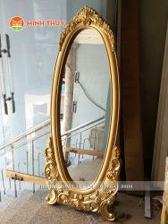 Khung gương đứng tân cổ điển Vàng(KG-02)