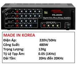 AMPLIFIER JARGUAR SUHYOUNG PA-203N