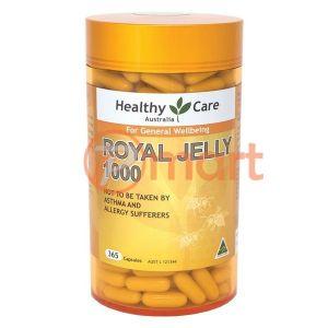 Sữa Ong Chúa Healthy Care Royal Jelly 1000mg Chống Lão Hóa Làm Đẹp Da Tăng Cường Sức Khỏe