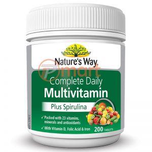 Vitamin Tổng Hợp Kết Hợp Tảo Biển Nature's Way Multivitamin & Spirulina