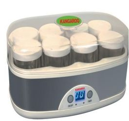 Máy làm sữa chua Kangaroo KG-81, 8 cốc, cốc thủy tinh, 1.6L