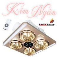 Đèn sưởi nhà tắm Heizen âm trần 4 bóng KN - HE9 ( điều khiển)