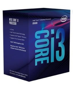 Bộ xử lý Intel® Core™ i3-8100 3.6Ghz / 6MB / 4 Cores, 4 Threads / Socket 1151 v2 (Coffee Lake )