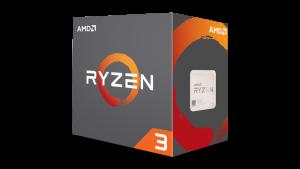 CPU AMD Ryzen 3 1200 3.1 GHz (3.4 GHz with boost) / 8MB / 4 cores 4 threads / socket AM4