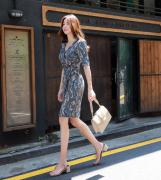Váy liền thân Styleonme Hàn Quốc 230810