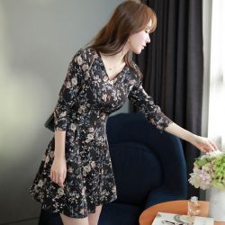 Váy liền thân Fiona Hàn Quốc 070960