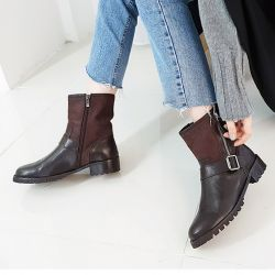 Boots cổ thấp Sovo Hàn Quốc 101083