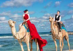 Cặp đôi Sài Gòn 'đập lợn tiết kiệm' chụp ảnh cưới trên lưng lạc đà ở Bali