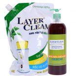 Bộ 2 nước rửa chén bát hữu cơ Layer Clean (2L, 800ml)