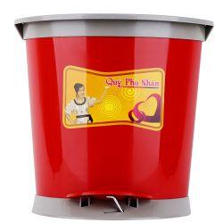 Thùng rác hình quạt 45 độ 28.5 x 29 x 25 cm (Đỏ)