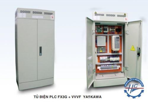 TỦ ĐIỆN  PLC FX3G + VVVF YASKAWA